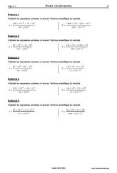 Puissances – 3ème – Exercices corrigés – Mathématiques – Collège – Soutien scolaire