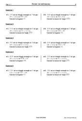 Trigonométrie – 3ème – Exercices corrigés – Mathématiques – Collège – Soutien scolaire