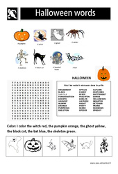 Halloween words – Les mots d'halloween en anglais – Cycle 2 – Cycle 3