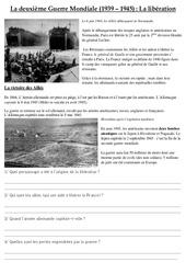 Libération – Deuxième Guerre Mondiale – Cm2 – Exercices – Documents – Cycle 3