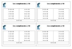 Compléments à 10 – Ce1 – Leçon