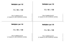 Multiplier par 10 – Ce1 - Leçon