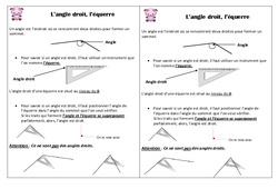 Angle droit - Equerre – Ce1 - Leçon