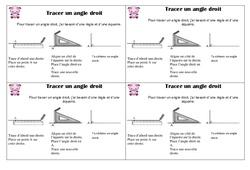 Tracer un angle droit – Ce1 - Leçon