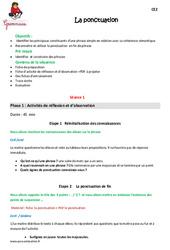 Ponctuation – Ce2 – Fiche de préparation