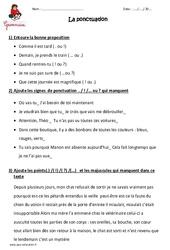 Ponctuation – Ce2 – Exercices à imprimer