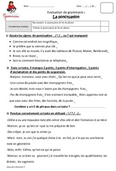 Ponctuation – Ce2 – Evaluation – Bilan