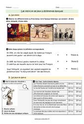 Loisirs et jeux à différentes époques - Ce2 - Exercices à imprimer