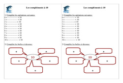 Les compléments à 10 – Ce1 – Exercices – Calcul – Cycle 2