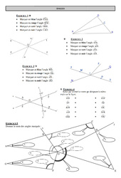 Angles - 6ème - Exercices  - Correction - Collège - Mathématiques - Géométrie