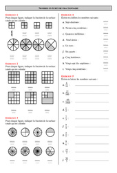 Ecriture fractionnaire - 6ème - Exercices  - Correction - Collège - Mathématiques