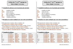 Futur simple - 1er et 2ème groupe - Ce2 - Exercices corrigés
