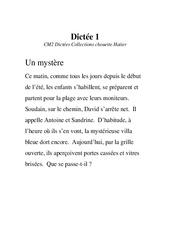 Dictées - Cm2 - Exercices - Orthographe - Français - Cycle 3