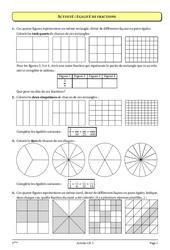Fractions – 5ème – Cours – Exercices –  Collège – Mathématiques