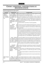 Additions, soustractions, multiplications – 6ème – Cours – Exercices – Collège – Mathématiques