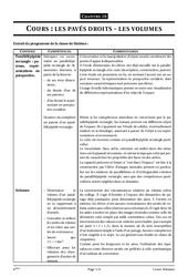 Pavé droit – volumes – 6ème – Géométrie – Cours – Exercices – Collège – Mathématiques