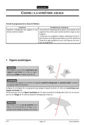 Symétrie axiale – 6ème – Géométrie - Cours – Exercices – Collège – Mathématiques