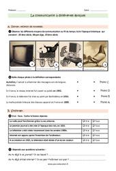 Communication à différentes époques - Ce2 - Exercices à imprimer