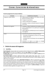 Longueurs – Périmètres – 6ème – Grandeurs et mesures – Cours – Exercices – Collège – Mathématiques