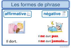 Formes de phrases - Cm1 - Affiche pour la classe