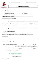 Groupe nominal - Cm1 - Leçon