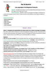 Paysages montagneux français – Ce2 – Fiche de préparation