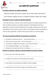 Adjectifs qualificatifs – Cm2 – Exercices à imprimer