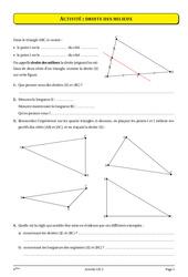 Triangle – Milieux – Parallèles – 4ème – Géométrie – Cours – Exercices – Collège – Mathématiques