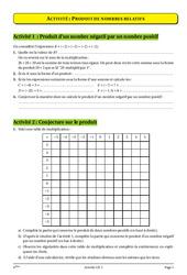 Nombres relatifs - Opérations – 4ème – Cours – Exercices – Collège – Mathématiques