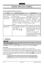 Racines carrées – 3ème – Cours – Exercices – Collège – Mathématiques