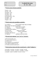 Noms en: eu au eau - Cm1 - Exercices corrigés - Orthographe - Cycle 3