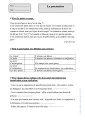 Ponctuation – Cm1 – Exercices corrigés – Grammaire – Cycle 3