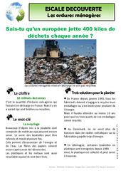 Les déchets ménagers – Ce2 – Documentaire – Lecture – Cycle 3