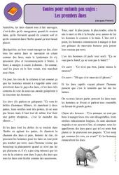 Conte pour enfants pas sage - Les premiers ânes – Ce2 – Conte – Lecture – Cycle 3