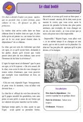 Le chat botté – Ce2 – Conte – Lecture – Cycle 3