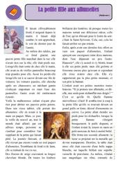 La petite fille aux allumettes – Cm1 – Conte – Lecture – Cycle 3