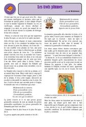 Les trois plumes – Cm1 – Conte – Lecture – Cycle 3