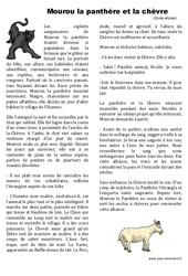 Mourou la panthère et la chèvre - Conte africain - Ce2 - Lecture - Cycle 3