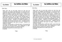 La lettre - Ce2 – Lecture - Textes prescriptifs, fonctionnels – Cycle 3