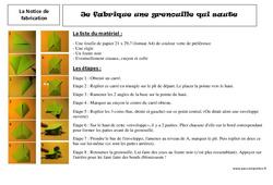 La notice de fabrication - Ce2 – Lecture - Textes prescriptifs, fonctionnels – Cycle 3