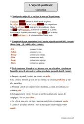 Adjectif qualificatif – Attribut – Epithète – Cm1 – Exercices corrigés – Grammaire – Cycle 3