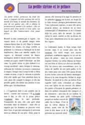 La petite sirène et le prince - Cm1 - Cm2 – Conte – Lecture – Cycle 3