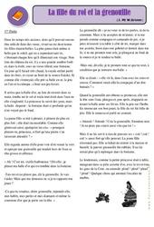 La fille du roi et la grenouille - Cm1 - Cm2 – Conte – Lecture – Cycle 3