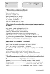 Verbe conjugué – Cm1 – Exercices corrigés – Grammaire – Cycle 3