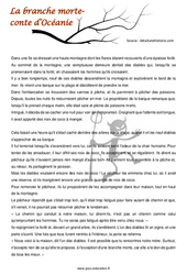 La branche morte - Cm1 - Cm2 - Lecture - Contes du monde - Cycle 3