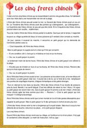 Les cinq frères chinois – Cm1 – Cm2 – Lecture – Contes du monde – Cycle 3