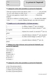 Présent de l'impératif – Cm1 – Exercices corrigés – Conjugaison – Cycle 3