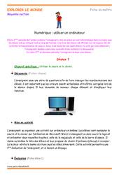 Utiliser un ordinateur – Moyenne section – Séances