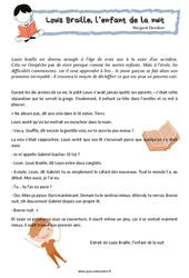 Louis Braille, l'enfant de la nuit – Cm1 – Cm2 – Le dialogue – Texte théâtrale – Lecture – Cycle 3