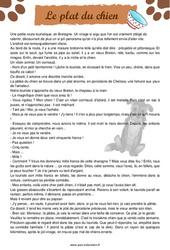 Le plat du chien – Cm1 – Cm2 – Récit – Lecture – Cycle 3
